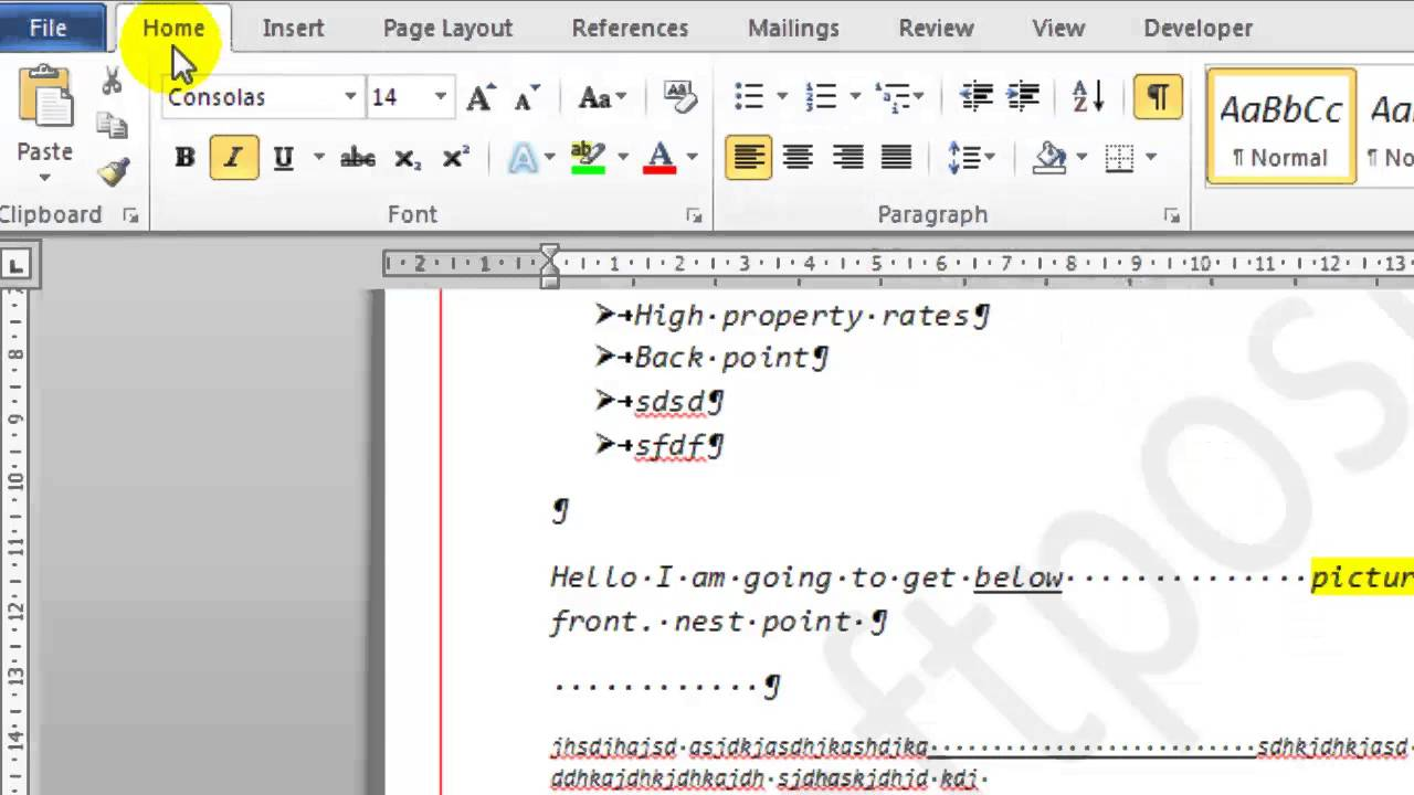 How To Get Rid Of Formatting Marks In Microsoft Word Youtube