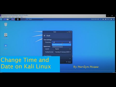 How To Change Date And Time In Kali Linux