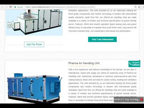 Dustech Engineers Pvt Ltd - Products : Air Handling Unit