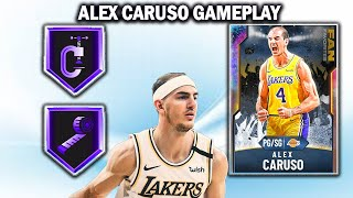 GALAXY OPAL ALEX CARUSO GAMEPLAY! THIS CARD IS A TOP 5 PG IN NBA 2K20 MYTEAM!