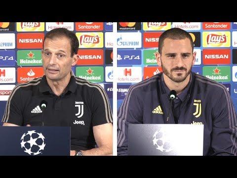 Massimiliano Allegri & Leonardo Bonucci Pre-Match Press Conference - Juventus v Manchester United