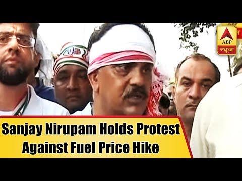 Mumbai Live: Mumbai Congress President Sanjay Nirupam Holds Protest Against Fuel Price Hike |