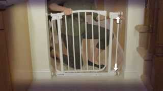 Dreambaby Stair Gate White Instructional  - How To Fit Video | Babysecurity