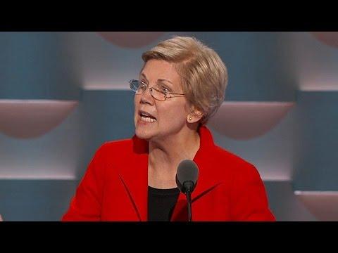 Sen. Elizabeth Warren makes speech at DNC