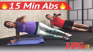 15 minute ab workout hiit abs workout for men women 15 min abdominal workout at home