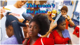 BLACK GIRL GETS HAIR DONE IN CHINA | SHOCKING RESULTS! THEY BETRAYED ME! | MERVEILLE K
