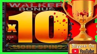 BIGGEST WIN on Youtube on WALKING DEAD Slot Machine🏚CDC BONUS W/ SDGuy1234