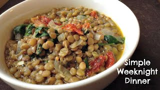 Easy Lentil Soup W/ Sun-dried Tomatoes & Spinach Recipe | Vegan Dinner