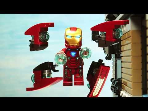 Avengers Infinity War Iron Man Iron Spider Man VS Cull Obsidian fight scene Lego Stop Motion thumbnail