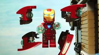 Avengers Infinity War Iron Man Iron Spider Man VS Cull Obsidian fight scene Lego Stop Motion