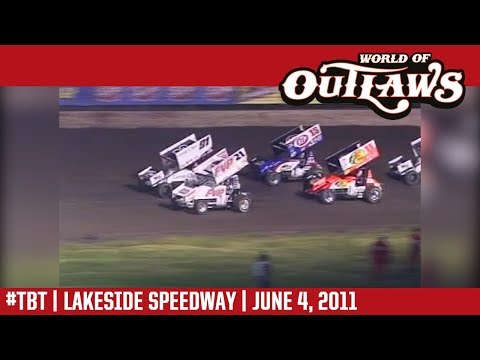 World of Outlaws Craftsman Sprint Cars Lakeside Speedway June 4, 2011 | #ThrowbackThursday