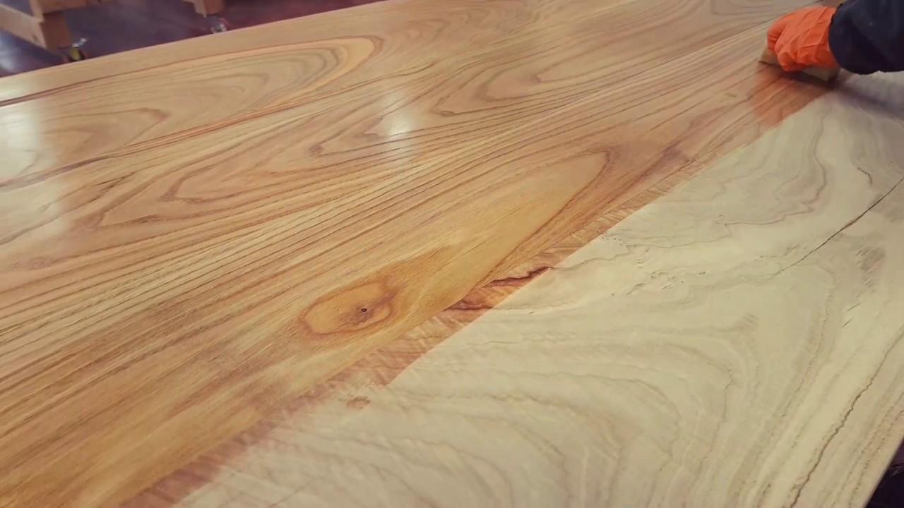 Legno massello di castagno trattamento olio di lino crudo youtube - Mobili in castagno massello ...