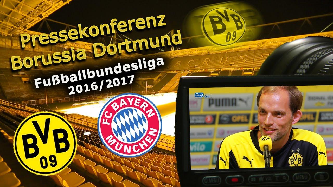 Borussia Dortmund - FC Bayern München: Pk mit Thomas Tuchel