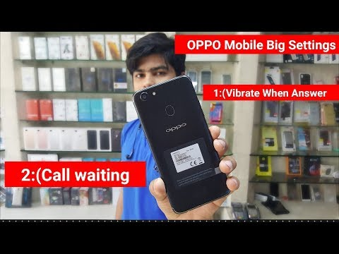 How to Activate Call Waiting OPPO All model | how to vibrate