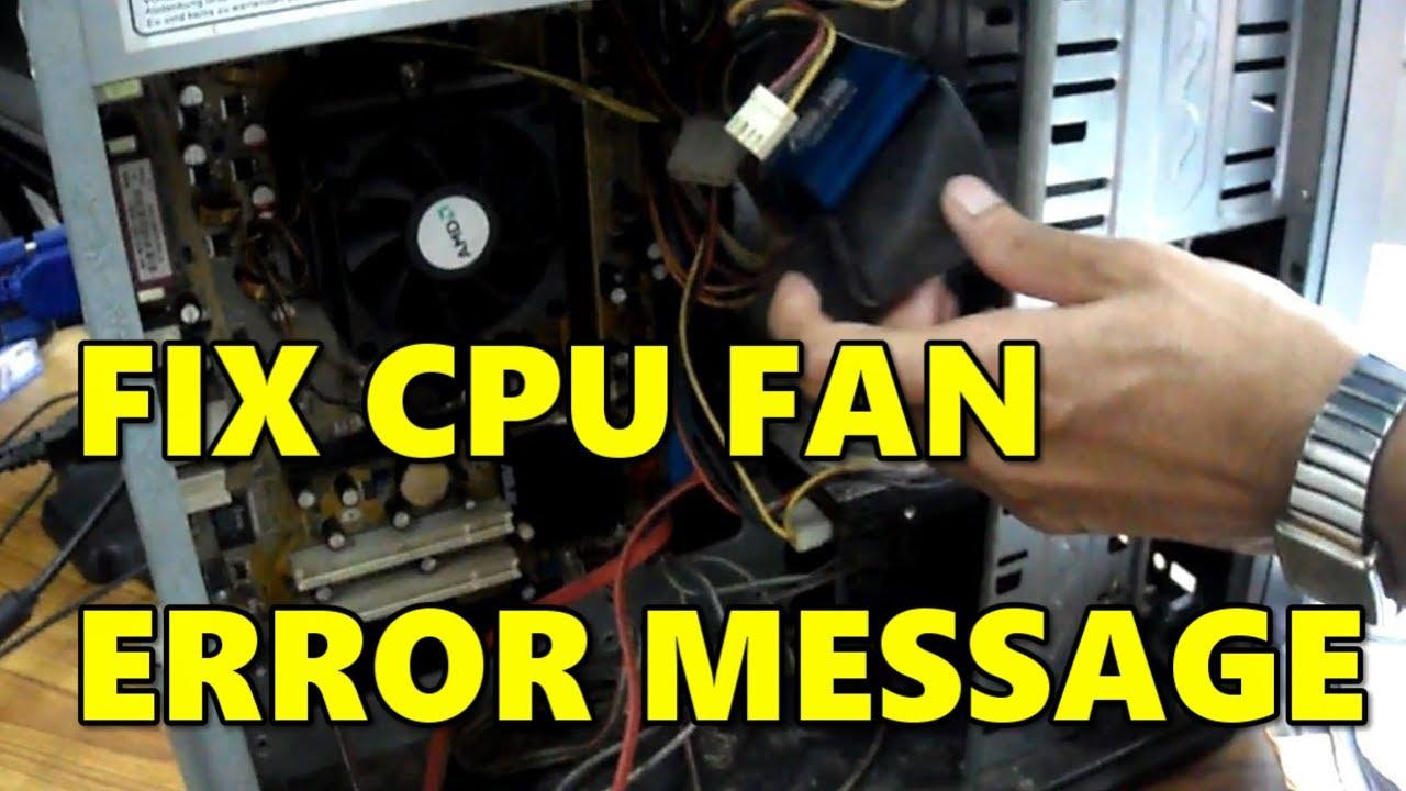 FIX CPU fan error message of your computer