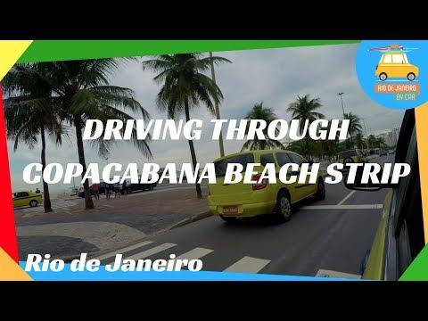 Driving through Copacabana Beach strip | Rio de Janeiro #130