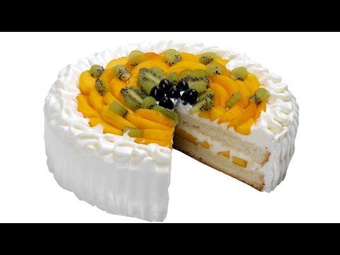 Торт с фруктами. Пошаговый рецепт приготовления нежного торта со взбитыми сливками.