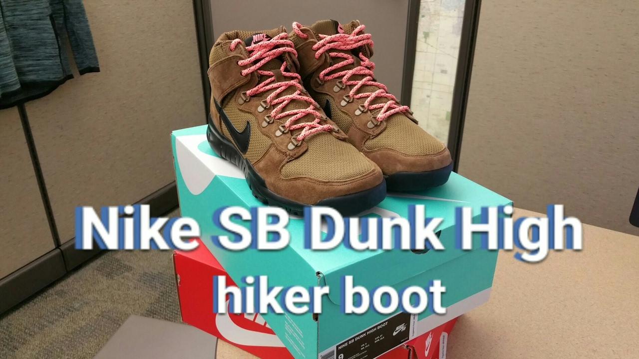 new styles 71f6e 81be7 Nike SB Dunk High Hiking Boots - On Feet!