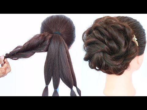 Messy Bun Trick    Messy Updo For Weddings    Hair Style Girl    Updo Hairstyles    Hairstyle