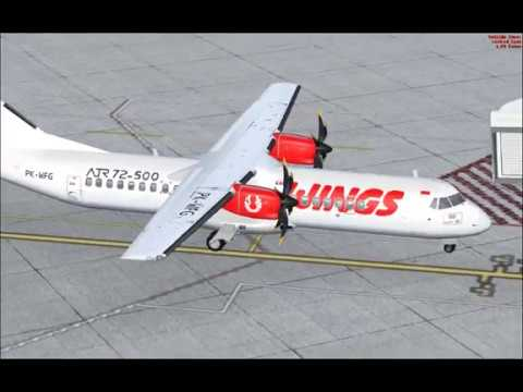 [FSX] Flying ATR 72-500 WINGS AIR from Soekarno Hatta to Halim