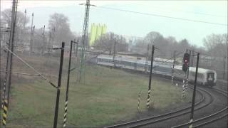 EC273 (Skoda CD380) to Beograd arriving at Sturovo, 22/Nov/2014シュトゥロヴォ到着のベオグラード行EC273号