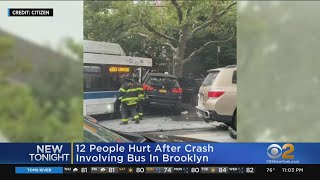 12 Injured In Multi-Vehicle Crash Involving MTA Bus