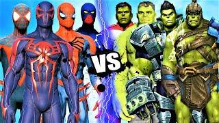 TEAM SPIDER-MAN vs HULK ARMY