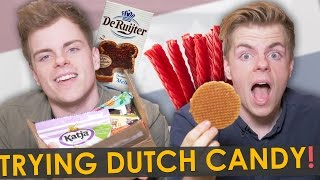 BRITISH TWINS TRY DUTCH CANDY | NikiNSammy