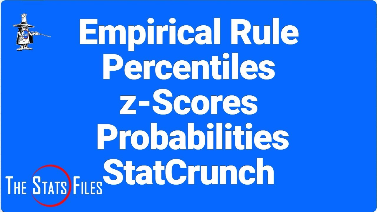 Find Zscores, Probabilities, And Percentiles Using Statcrunchempirical Rule