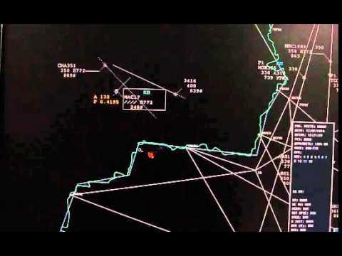 Видео с радара в момент крушения Боинга 777