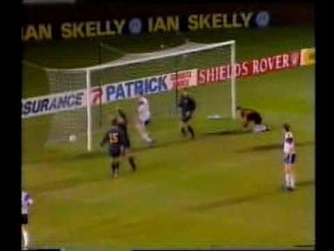 Scotland - Faroes 5-1. Euro-96 qualifier. 2nd half. Jan Allan's great finish