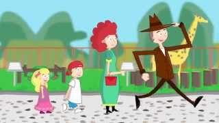 Идем в зоопарк. Развивающий мультфильм для детей от 12 до 18 месяцев.