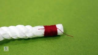 1-8. 繩頭結 (Whipping) | 童軍繩結打法教學影片 9/10