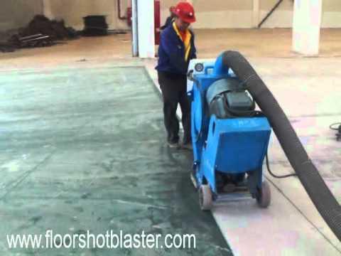 floor blasting machine