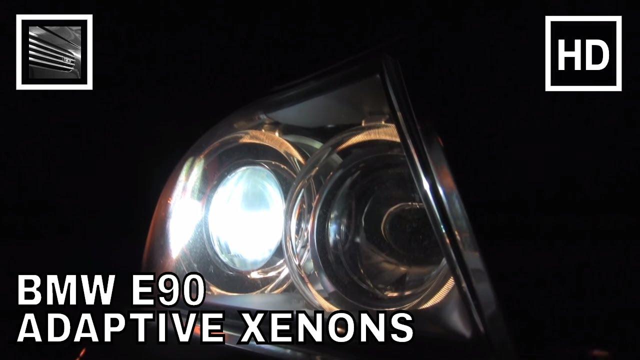 BMW E90 Adaptive Xenon Headlights in Action