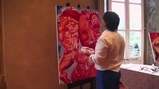 Alexander Kanevsky - Live Painting Movie - Villa Clerici - 14/06/2015