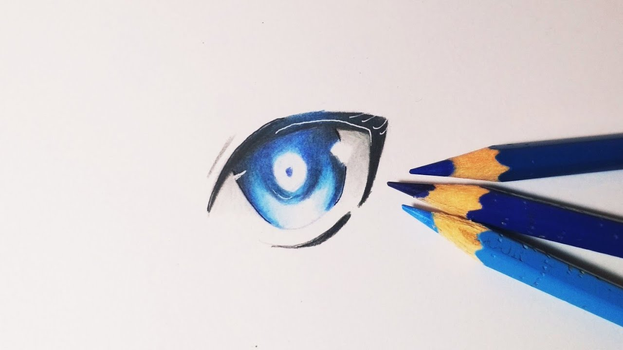 Tutorial How To Coloring Anime Eyes Cara Mewarnai Mata Anime Colored Pencils For Beginner Youtube