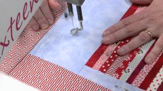 Allover Machine Quilting: Scrappy Flag Block