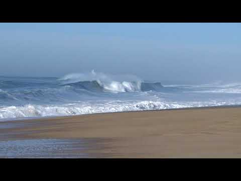 arc-en-ciel sur les vagues de la gravière grace au vent d'est très frequent....
