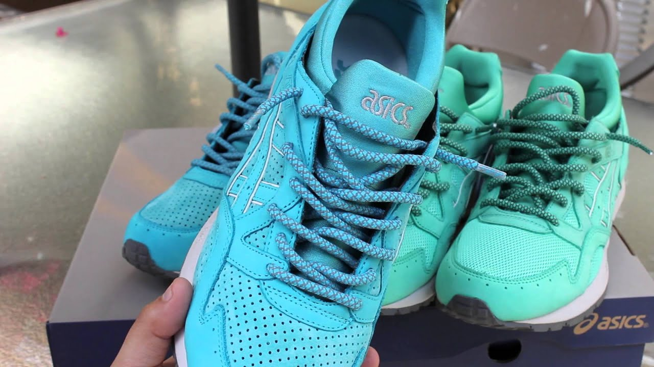 Ronnie Fieg x Asics Gel Lyte V Mint and Cove - YouTube a51dd431cccd
