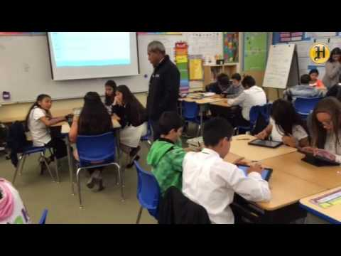 6th grade students use their iPads to study at Monte Bella Elementary School in Salinas that is one