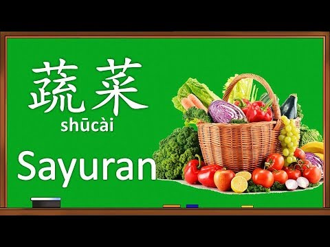 Belajar Nama Sayuran Dalam Bahasa Mandarin