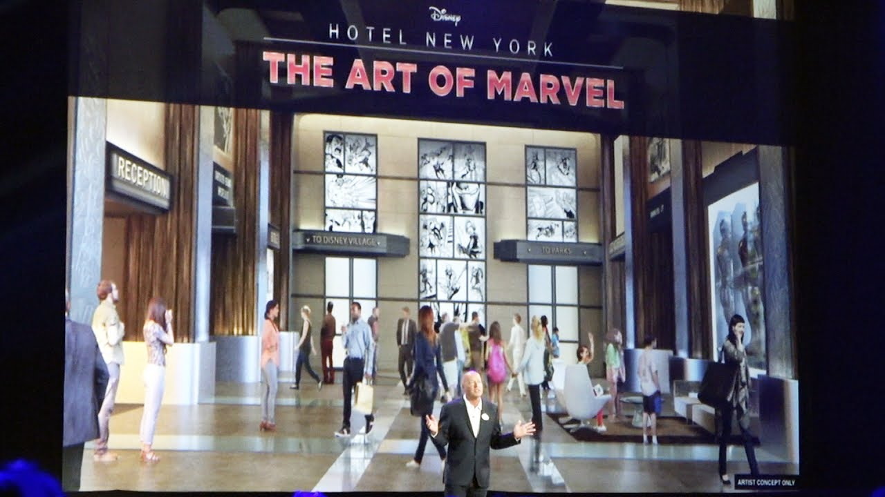 Disney hotel new york the art of marvel announced for for Expo design paris