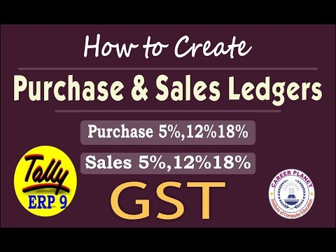 How to create GST Purchase and Sales Ledger in Tally ERP 9 Part-98| Learn Tally ERP 9 with GST