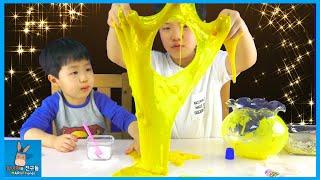 황금 액괴 액체괴물 될것인가? 코딱지(?) 될것인가? 부자 만수르 되기 도전 ♡ 액체괴물만들기 장난감 놀이 Make Gold Slime | 말이야와친구들 MariAndFriends