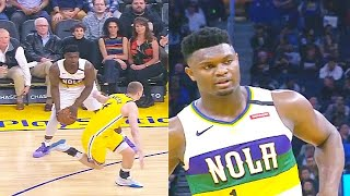 Zion Williamson Embarrasses Warriors Player After Fooling Him With Jab Step! Pelicans vs Warriors