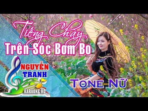 [Karaoke nhạc sống] Tiếng Chày Trên Sóc Bom Bo - Tone Nữ