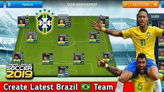 How to create brazil team kits logo players in dream league soccer 2019 full tutorial with android and ios gameplay. all players,logo al...