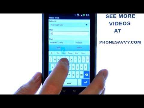 Motorola Droid 4:  How Do I Set Calendar Reminders?