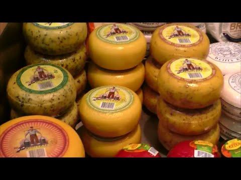 Голландский сыр. Цены в Амстердаме. Dutch Cheese. Prices In Amsterdam
